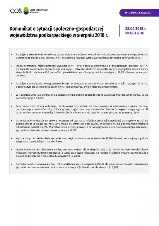 49f4f81176b7ee Podstawowe informacje charakteryzujące sytuację społeczno-gospodarczą na  terenie województwa podkarpackiego dotyczące m. in. rynku pracy,  wynagrodzeń, ...